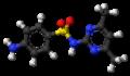 Sulfadimidine molecule ball.png
