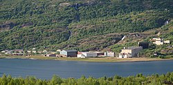 Early-July 2009 view of the village
