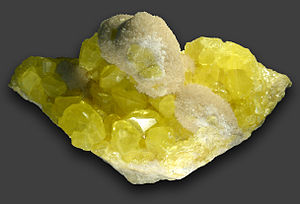 Sulphur xx, Aragonite xx