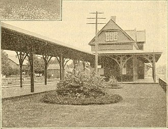 Stroudsburg, Pennsylvania - Lackawanna station in the 1890s