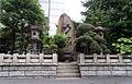 Sumo monuments in Ekoin 2008 August.jpg