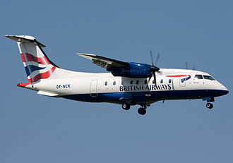 Dornier 328 - A Dornier 328 of Sun-Air of Scandinavia, painted in British Airways livery.