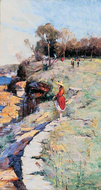 Heidelberg School - Arthur Streeton, Sunlight Sweet, Coogee, 1890