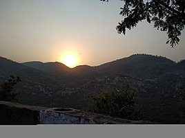 Sunset view from the top of Alwar fort/Bala Quila.