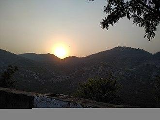 Alwar - Sunset from the top of Alwar fort/Bala Quila.