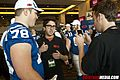 Super Bowl Media Day Sun Life stadium - Jake and Amir interviewing Colts Player (4329412927).jpg