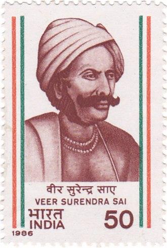 Surendra Sai - Image: Surendra Sai 1986 stamp of India