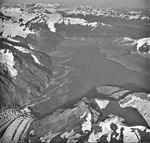 Surprise Glacier, terminus on lower left into Harriman Fjord, August 22, 1979 (GLACIERS 5067).jpg