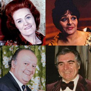 The Royal Opera - 1950s stars, clockwise from top left, Joan Sutherland, Victoria de los Ángeles, Geraint Evans, Tito Gobbi