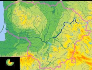 Šventoji (Neris) - Map of the Šventoji river