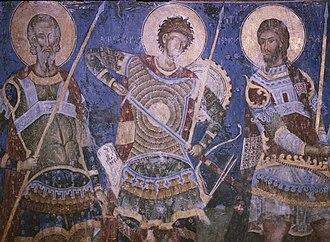 Manasija - Image: Sveti ratnici Manasija