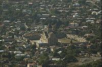 Вид на Сетицховели с монастыря Джвари.