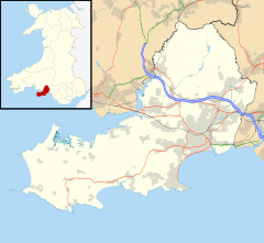 Gower Peninsula is located in Swansea