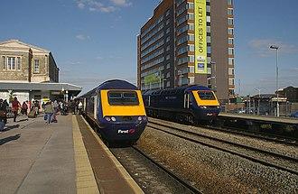Swindon railway station - Image: Swindon railway station MMB 03 43168 43161