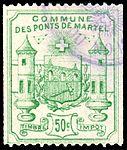Switzerland Les Ponts-de-Martel 1892 revenue 1 50c - 3.jpg