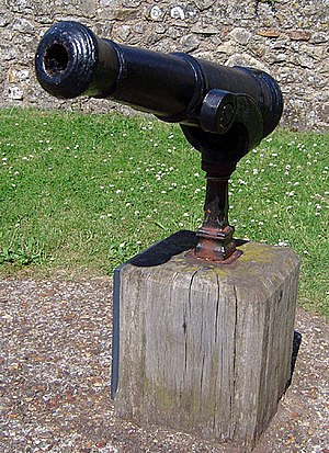 Swivel gun - A swivel gun at Carisbrooke Castle, Isle of Wight