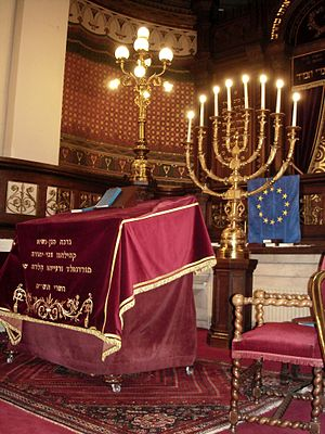 Interior of the Great Synagogue of Brussels Syna Bruxelles-2.JPG