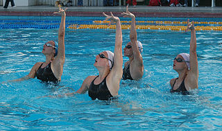Synchronised swimming hybrid form of swimming, dance and gymnastics