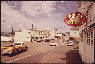 Cathlamet, Washington - Cathlamet in 1973 (Columbia Street)