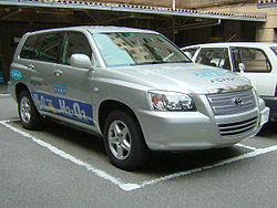 The hydrogen powered FCHV (Fuel Cell Hybrid Vehicle) was developed by Toyota in 2005
