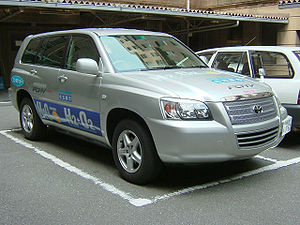 TOYOTA FCHV(Fuel Cell Hybrid Vehicle). The fue...