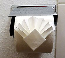Toilet Paper Origami on a Roll Decorative Folds and Flourishes for Over-the-Top Hospitality