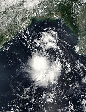 2003 North Indian Ocean cyclone season - Image: TS 23W 27 oct 2003 0435Z