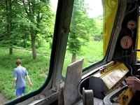 File:TU2 cab ride, Rivne Child Railway.webm