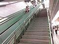TW 台北市 Taipei 松山區 SongShan District 台北捷運 MRT Station interior August 2019 SSG 15 Taipei Arena Station stairs.jpg