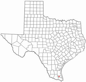 Raymondville, Texas - Image: TX Map doton Raymondville