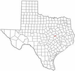 Location of Rosebud, Texas