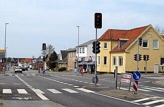 Tårs - the main street in Tårs