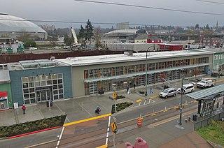 Tacoma Dome Station Amtrak, commuter rail, light rail, and bus station in Tacoma, Washington