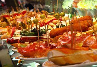 Spanish cuisine - Pintxos in Barcelona