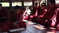 File:Tashi Yangtse, Chorten Kora, young monks taking a break during their study.webm
