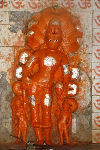 Taxakeshwar - Statue of Taxaka at Taxakeshwar temple