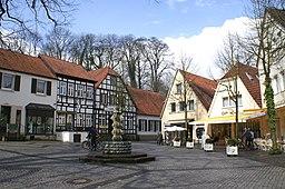 Der Marktplatz in Tecklenburg, Nordrhein-Westfalen