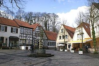 Tecklenburg Place in North Rhine-Westphalia, Germany