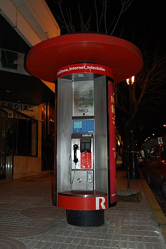 R (cable operator) - Image: Telefono R