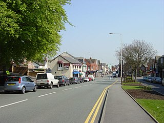 Heswall town in Metropolitan Borough of Wirral, Merseyside, England