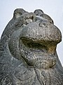 Temple guardian lion Northern Wei Dynasty (386-534 CE) Henan Province China Limestone closeup.jpg