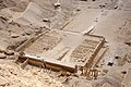 Temple of Hatshepsut from the top of the cliff ... (36124208200).jpg