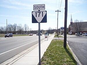 Tennessee State Route 171 - Tennessee State Route 171 in Mt. Juliet, TN.