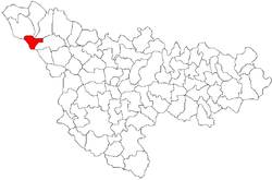 Location of Teremia Mare in Timiș County