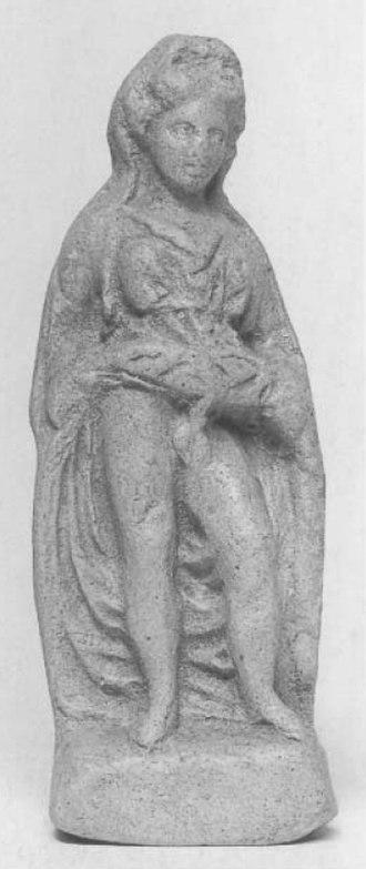 Aphroditus - Greek terracotta figurine, late 4th century BC, National Museum of Magna Grecia.