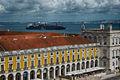 Terreiro do Paço E from Arco da rua Augusta viewpoint 2014-06-28.jpg