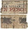 Texas Powder Company $1.00 (one dollar) private scrip (5376168299).jpg