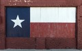 Texas flag, painted on boarded-up window in Brownwood, the seat of Brown County in Central Texas LCCN2014631500.tif