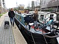 The 'Pilgrim' and other canal boats, Regent's Canal, King's Cross area, London.jpg
