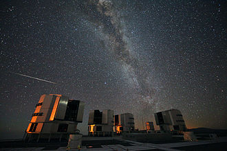Perseids - The 2010 Perseids over the ESO's VLT